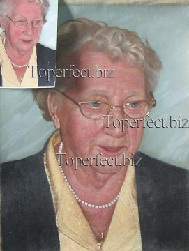 Examples of Portrait Painting - imd019 grandma portrait