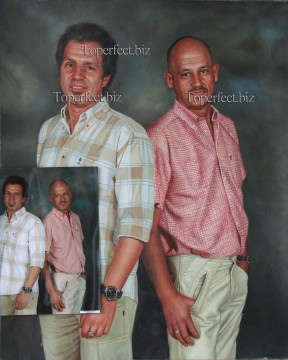 Examples of Portrait Painting - imd023 brothers portrait