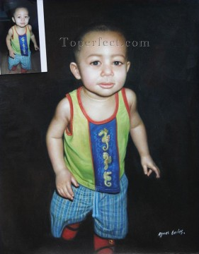 Examples of Portrait Painting - imd036 grandchild portrait