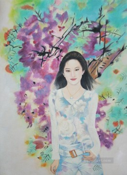 Discounted Painting - Girl Spring 55X75CM USD75
