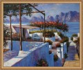 Mediterranean Sea Scenery Landscape Seaside Beach 20x24 Inches Framed USD115