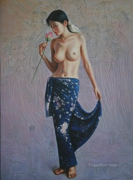 Discounted Painting - Nude Rose 58X78CM USD60