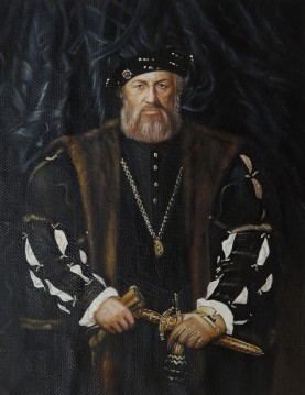 Portrait of Charles de Solier Lord of Morette by Hans Holbein the Younger 13x17 inches USD120 Oil Paintings