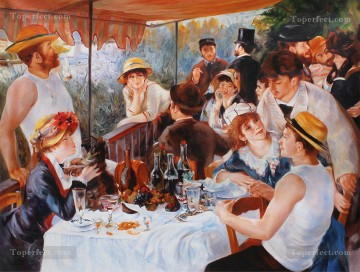 Discounted Painting - Reproduction by University Professors Luncheon of the Boating Party of Renoir 100X134cm USD750