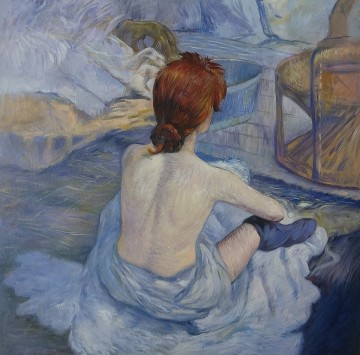 Toilette Art - Woman at Her Toilette Washing Herself by Henri de Toulouse Lautrec 26x26 inches USD90