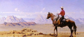 rider to hills western original Oil Paintings