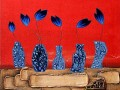 blue flowers wall decor original