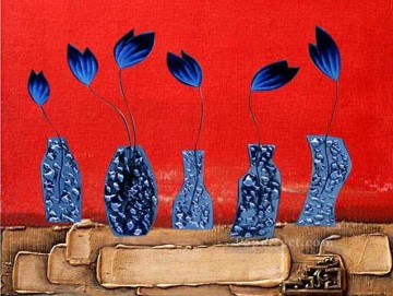Toperfect Originals Painting - blue flowers wall decor original