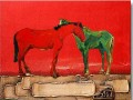 horse on thick paints original decorated