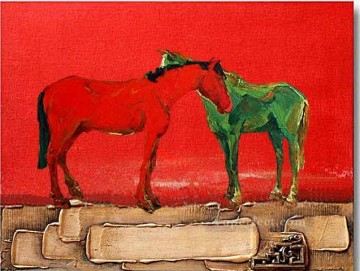 paints Canvas - horse on thick paints original decorated