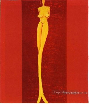 Toperfect Originals Painting - nude in red original decorated