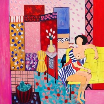 Toperfect Originals Painting - woman at room