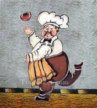 Toperfect Originals Painting - dancing cook original decorated