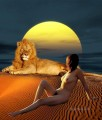 lion and beauty nude original