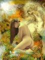 nude and textured steed in floral dreamland nude original