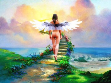 path to paradise nude original Oil Paintings