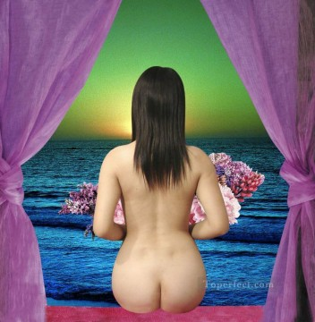 Original Nude Painting - rite of spirit nude original