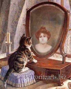 cat cats Painting - Is cat woman or Is woman cat revision of classics
