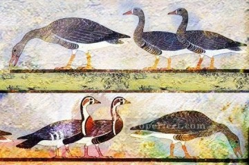 Toperfect Originals Painting - wide goose textured totem primitive art original