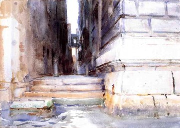 Base of a Palace2 John Singer Sargent water color Oil Paintings
