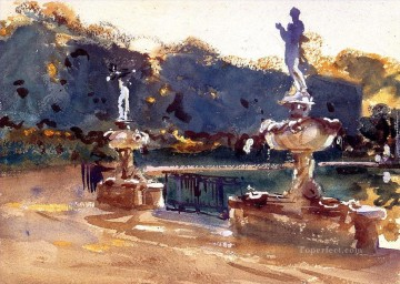 watercolor Deco Art - Boboli Gardens John Singer Sargent watercolor
