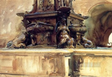 Bologna Fountain John Singer Sargent watercolour Oil Paintings