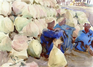Egyptian Water Jars John Singer Sargent watercolour Oil Paintings