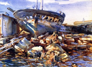watercolor painting - Flotsam and Jetsam John Singer Sargent watercolor