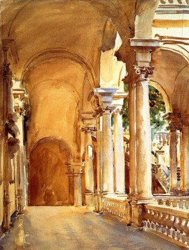 watercolor Deco Art - Genoa the University John Singer Sargent watercolor