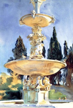 In a Medici Villa John Singer Sargent watercolor Oil Paintings