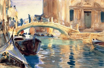 Ponte San Giuseppe di Castello Venice John Singer Sargent watercolor Oil Paintings