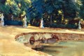 Pool in the Garden of La Granja John Singer Sargent watercolor