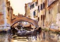 Venetian Canal John Singer Sargent water color