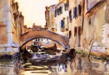 Venetian Canal John Singer Sargent water color Oil Paintings