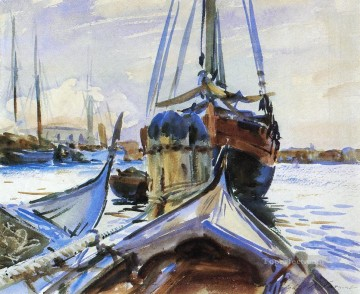 seascape mediterranean sea venice boat ship waterscape Painting - Venice boat John Singer Sargent watercolour