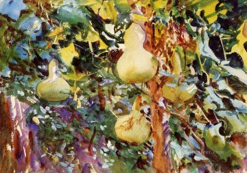 watercolor Deco Art - Gourds John Singer Sargent watercolor