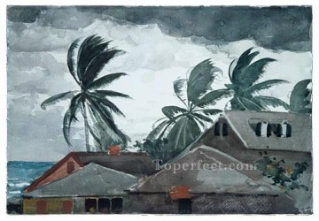 Hurricane Bahamas Winslow Homer watercolour Oil Paintings