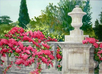 garden water color Oil Paintings