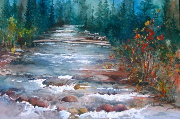 watercolor Painting - river spirit watercolor