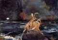 A Good Shot Adirondacks Winslow Homer watercolour