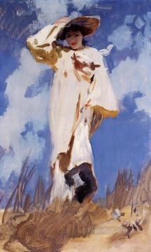A Gust of Wind John Singer Sargent watercolor Oil Paintings