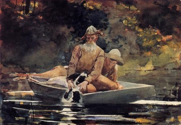 watercolor painting - After the Hunt Winslow Homer watercolor