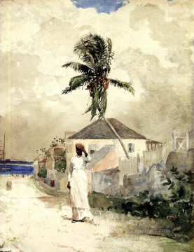 Along the Road Bahamas Winslow Homer watercolour Oil Paintings
