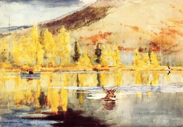 An October Day Winslow Homer watercolour Oil Paintings
