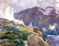 Artist in the Simplon John Singer Sargent watercolor