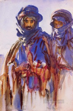 watercolor Deco Art - Bedouins John Singer Sargent watercolor