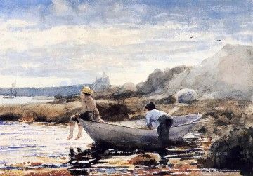 Boys in a Dory Winslow Homer watercolour Oil Paintings