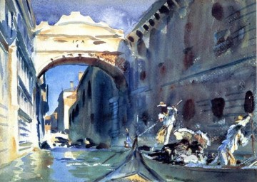 Bridge of Sighs John Singer Sargent watercolour Oil Paintings