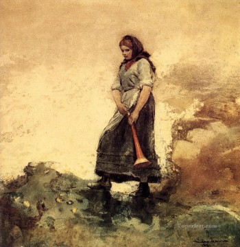 Daughter of the Coast Guard Winslow Homer watercolor Oil Paintings
