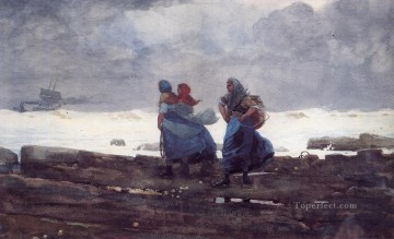 Fisherwives Winslow Homer watercolour Oil Paintings